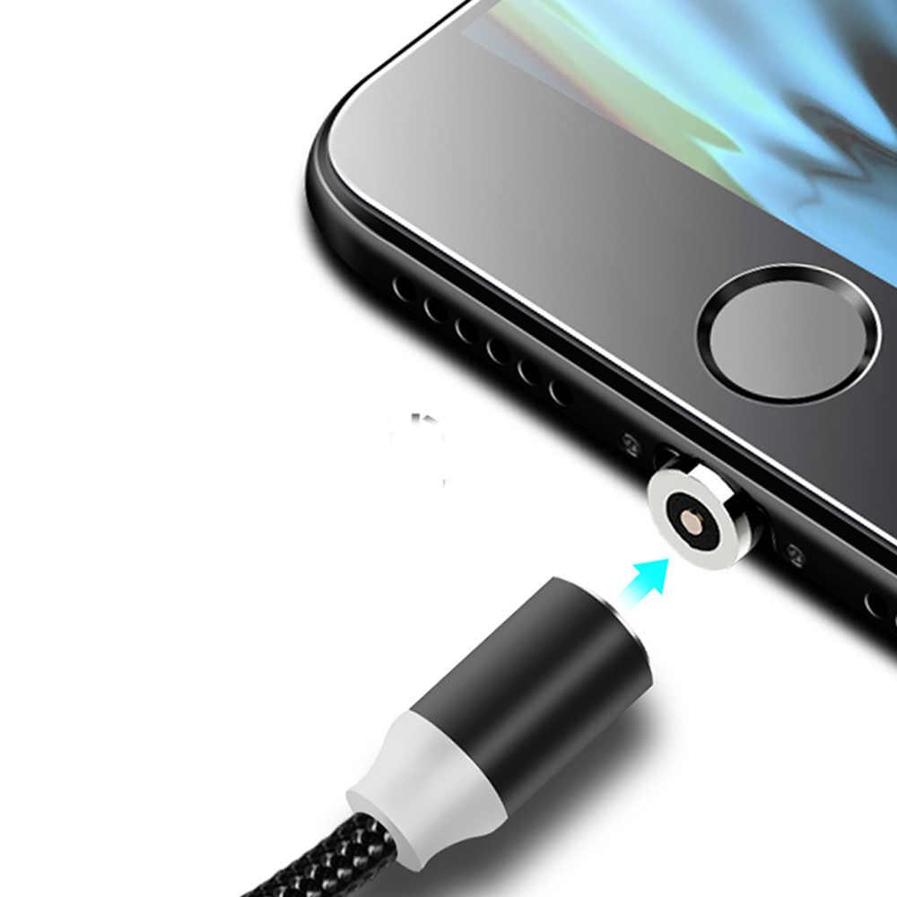 מגנטי כבל עבור Iphone/מיקרו USB/סוג C מטען מתאם תקע עבור Iphone מגנט מהיר טעינה נייד טלפון כבלים
