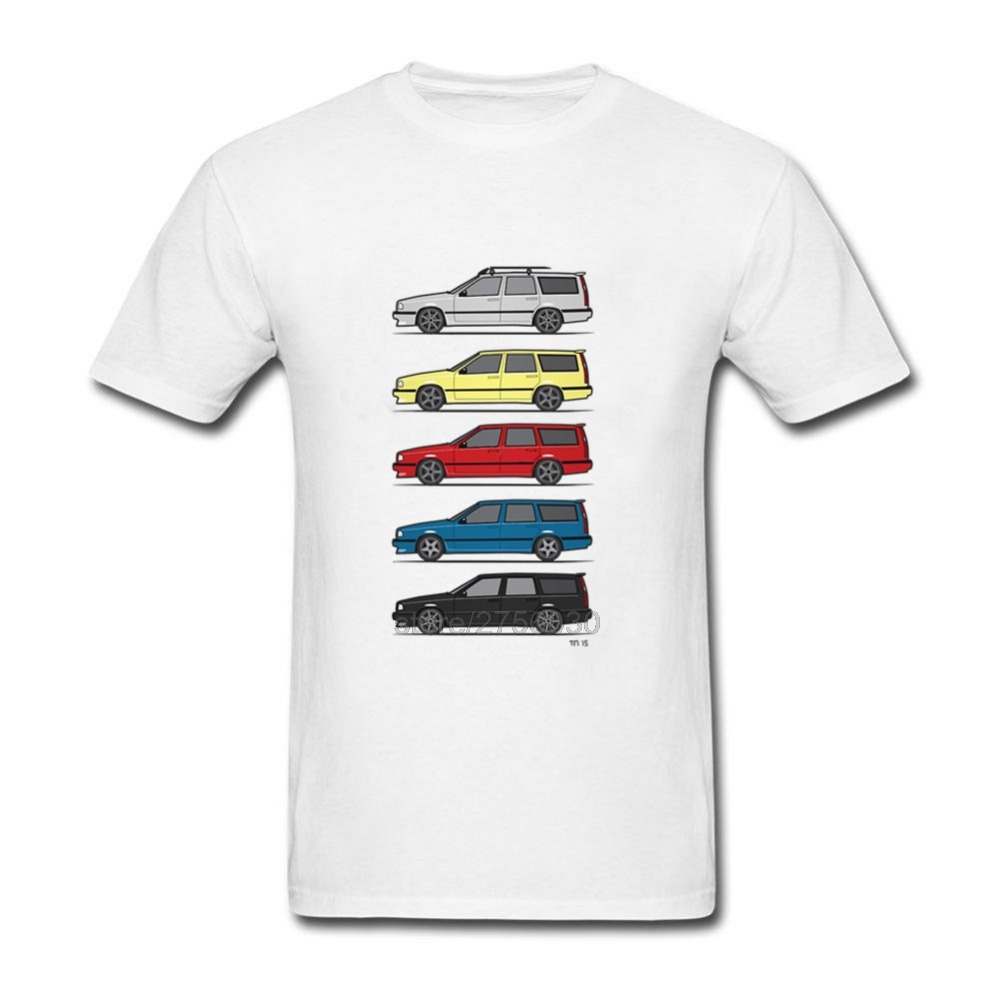 Tshirt Camisetas Masculina Crewneck Hombre Turbo Wagons Mens T Shirts Volvo 850 V70 T56 Short Sleeve Tees Shirt Men T Shirt