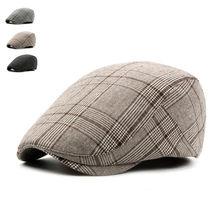 Брендовые модные летние солнцезащитные головные уборы в британском стиле, головные уборы для мужчин и женщин, высокое качество, повседневные Хлопковые женские береты, кепка s, регулируемая клетчатая плоская кепка