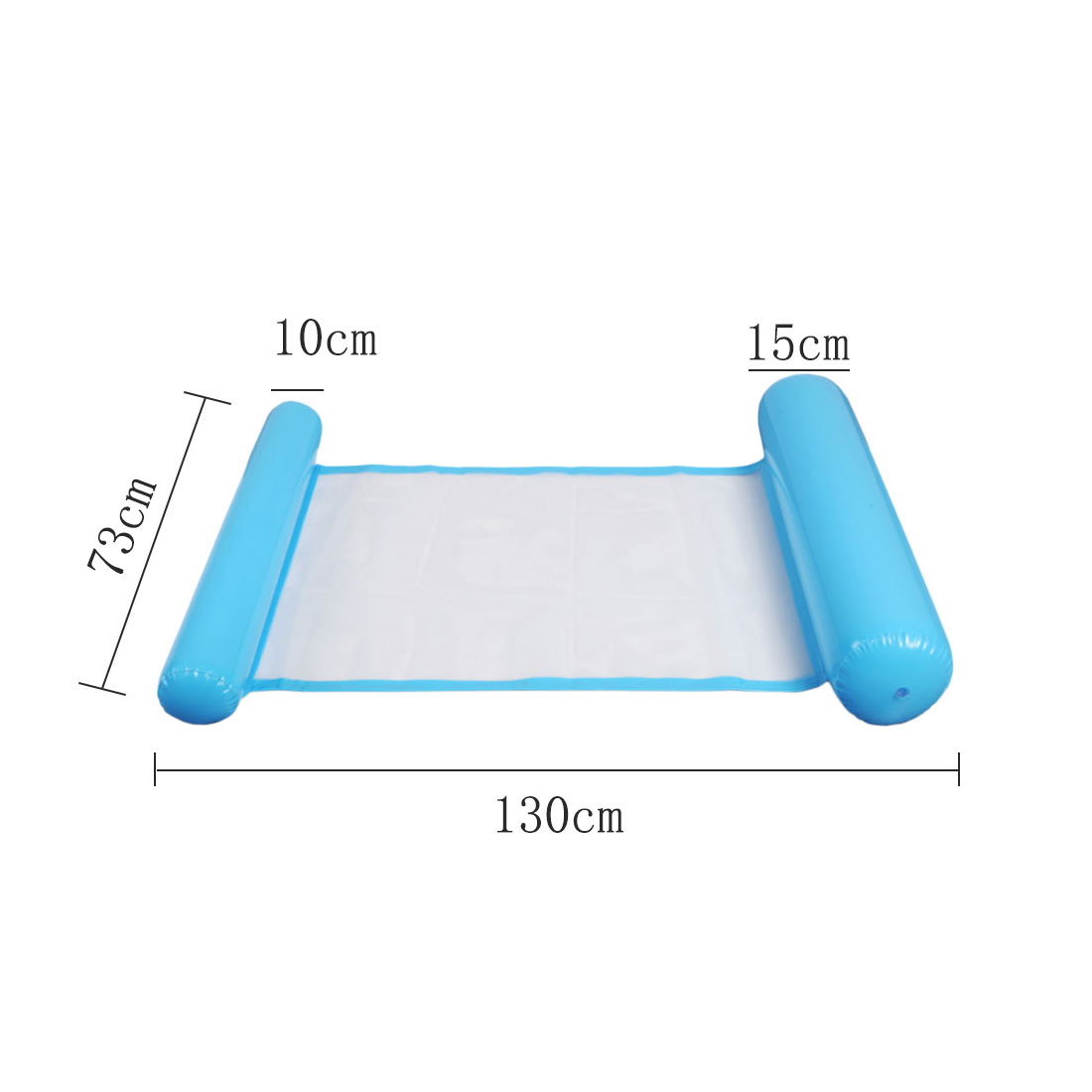 PVC Water Hammock Float Inflatable Floating Lounger Bed Beach Swimming Pool Float Lounge Float Bed Chair For Kids Adults