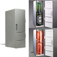 ポータブルミニusb pc車のラップトップ冷蔵庫クーラーミニusb pc冷蔵庫ウォーマークーラー飲料ドリンク缶冷凍庫