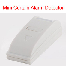 Free Shipping Mini Indoor Curtain Sensor PIR Indoor Window Door Security Alarm PIR Motion Sensor Alarm