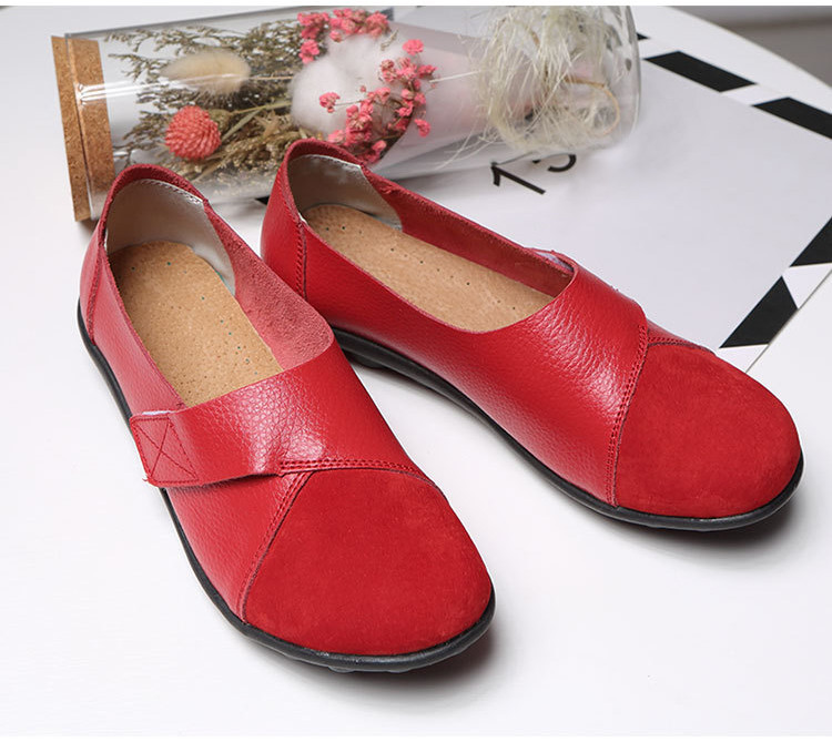 AH 1987-2019 Spring Autumn Women's Shoes Genuine Leather Woman Loafers-3