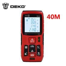 DEKO 40 m Medidor de Distancia Láser Digital Telémetro alcance Cinta Métrica Buscador Área/volumen Herramienta