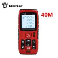 40m Digital Laser Distance Meter Rangefinder Range Finder Tape Measure Area Volume Tool