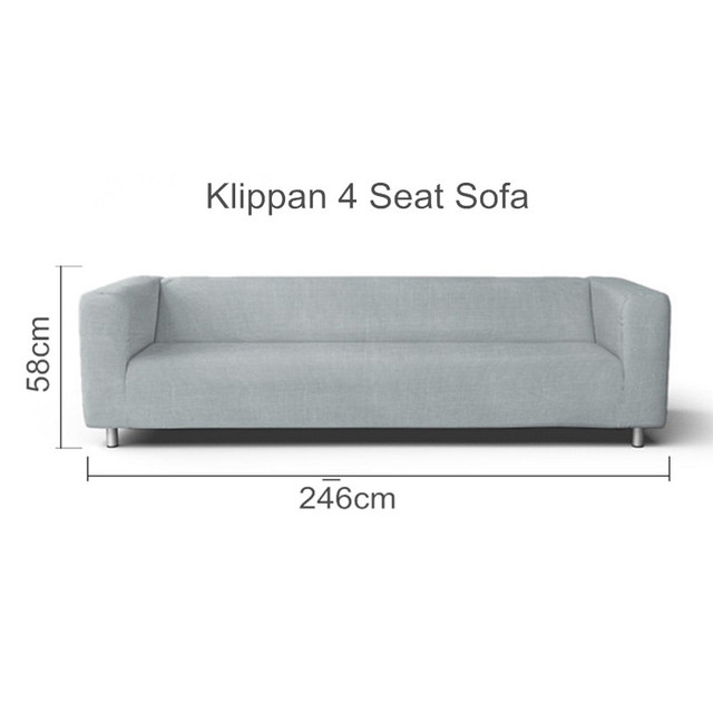 The Klippan 4 Seat Sofa Cover Replacement For Klippan 4 Seater Sofa  Slipcover