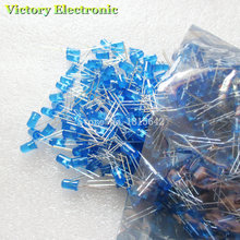 200PCS/Lot 5MM Blue LED Diode Round Diffused Blue Color Light Lamp F5 DIP Highlight New Wholesale Electronic