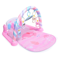 Surwish Newborn Baby Musical Toy Multi function Pedal Piano Crawling Blanket Fitness Frame