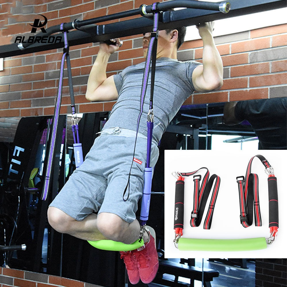 Fitness Equipment & Gear 1 Pair Pull Up Bar Ab Sling Suspension Hanging Straps Belts Abdominal Muscles High Quality And Low Overhead