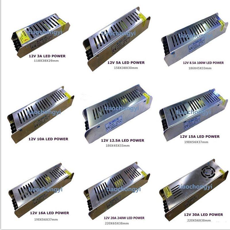 Новый AC 85-265 В к DC 12 В Питание Трансформатор Адаптер для 5050 Светодиодные ленты свет