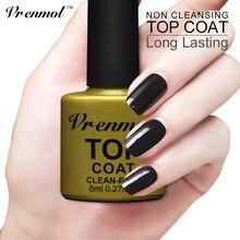 Vrenmol No Limpieza Capa Superior y Capa Base de Imprimación Para UV Cubierta de Gel de uñas de Gel No Pegajoso Limpio Envío Empapa Del Gel polaco