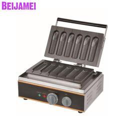 BEIJAMEI Commercial non-stick electric 6 sticks corn waffle maker machine 110v 220v industrial corn hot dog waffle machine