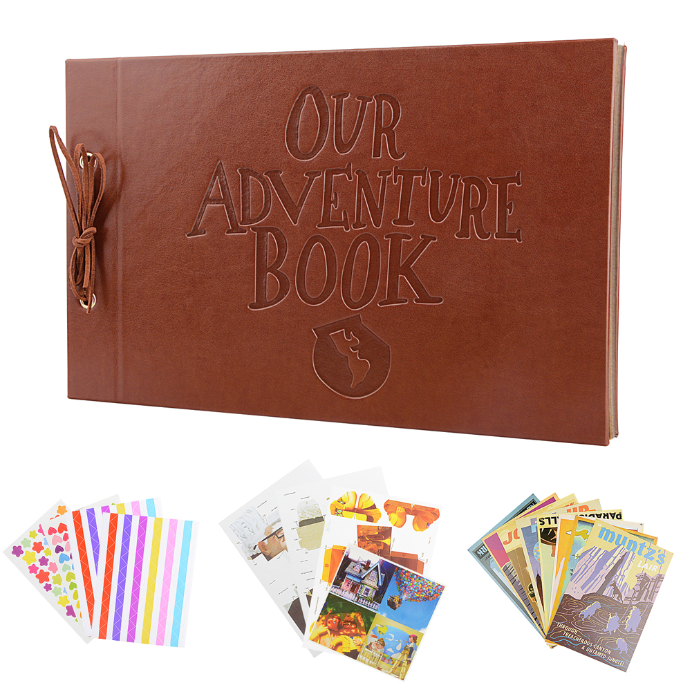 Image 2 - Vintage 80 Pages Kraft Paper Sheets Card Set Our My Adventure Book Album With Handmade DIY Tool Photo foto Scrapbook Photo AlbumPhoto Albums   -