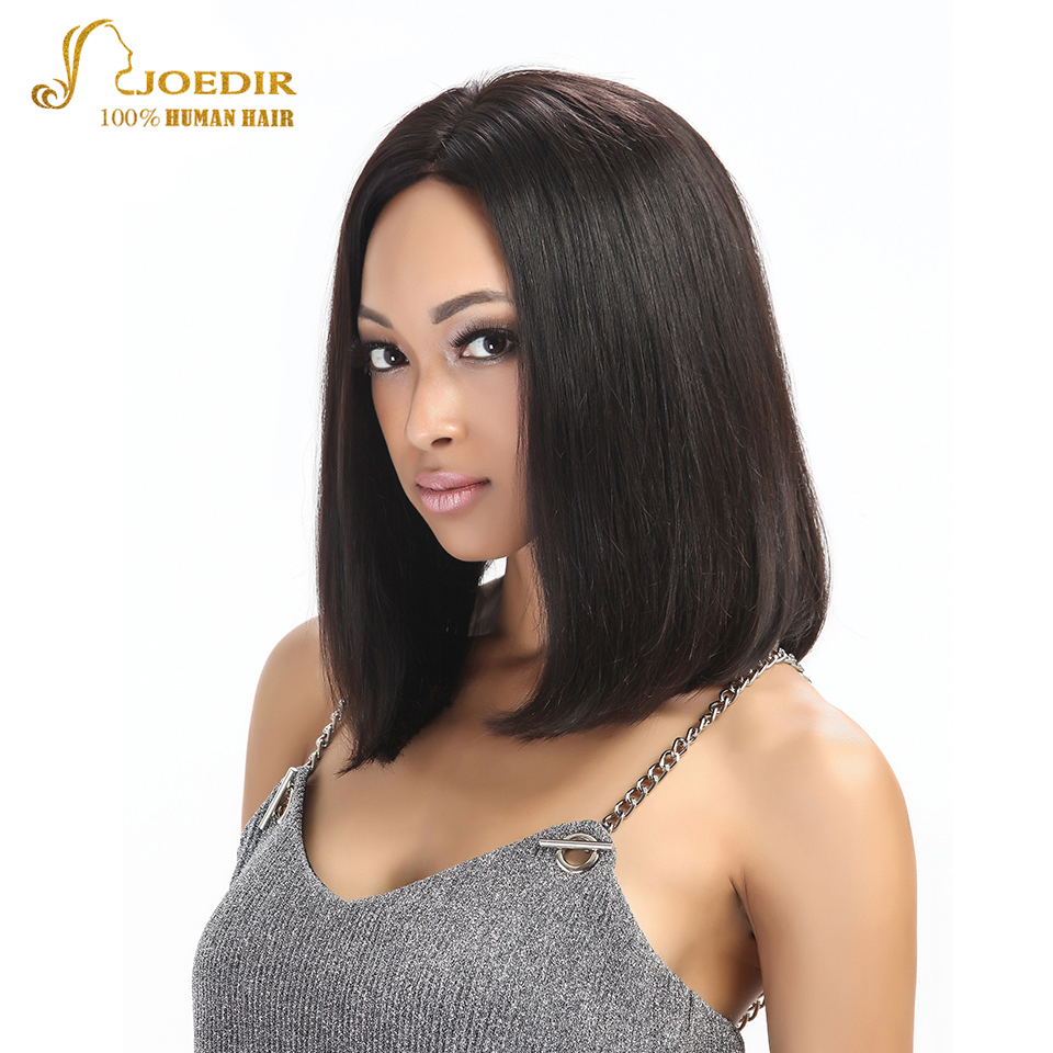 Joedir Straight Human Hair Wigs Remy Short Lace Front Human Hair Wigs For Black Women 10 ...