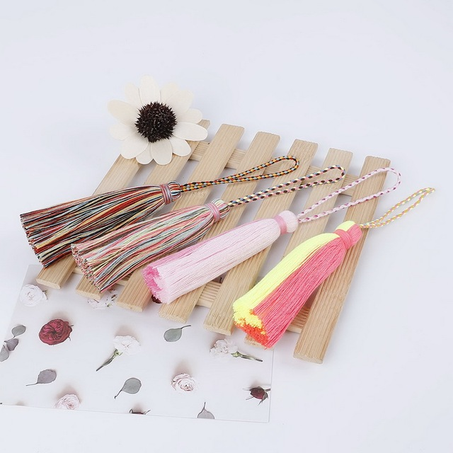 New Handmade Double Color Cotton Tassels Hangings Fashing Tassel Fringe Charms Pendant for DIY Jewelry Making Clothes Decoration