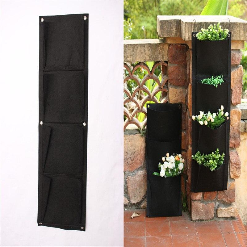 Pocketgarden 4 кармана вертикальный сад цветочные горшки Висят Горшки зеленая стена горшок и кашпо цветочные горшки