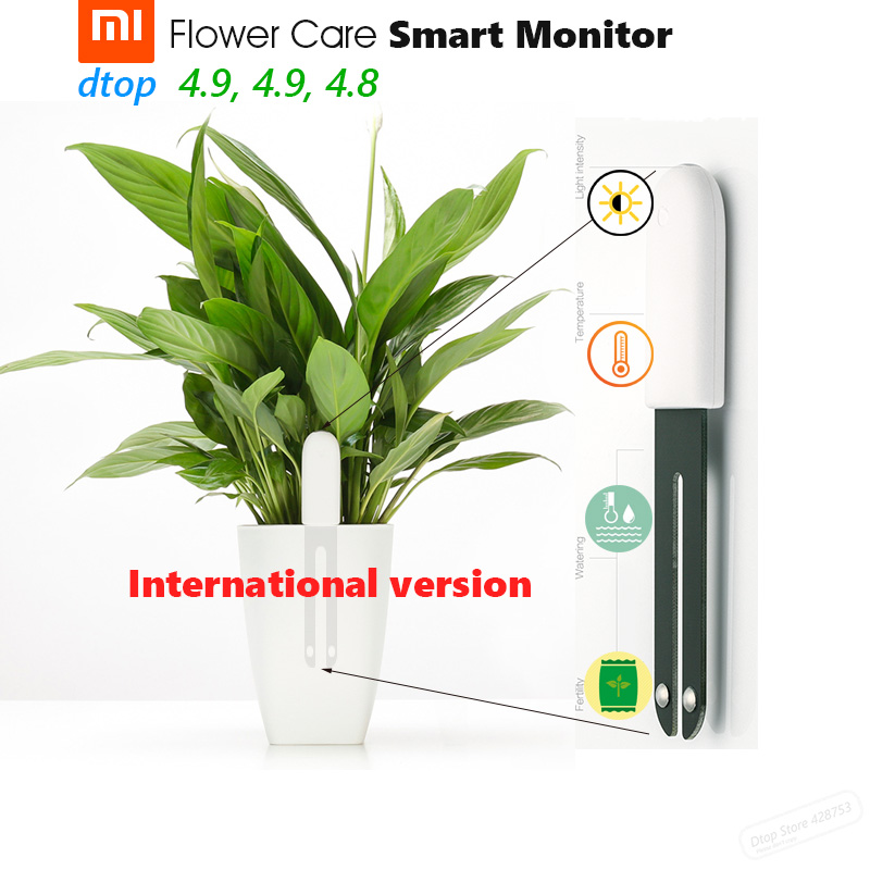 International Version Original Xiaomi Mi Flora Monitor Flower Care Smart Monitor Light Temperature Watering Fertility For Plant