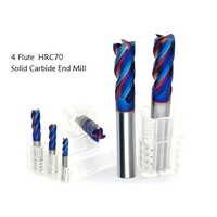 Consegna gratuita 5 pz/set 3 4 5 6 8mm Quattro Flauti in metallo duro Fresa Rivestimento NACO CNC di Fresatura bit in metallo duro fresa piatta