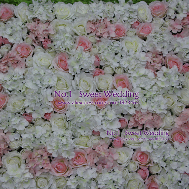 Artificial flowers wedding decoration white light pink rose and artificial flowers wedding decoration white light pink rose and hydrangea fake flower wall for backdrop junglespirit