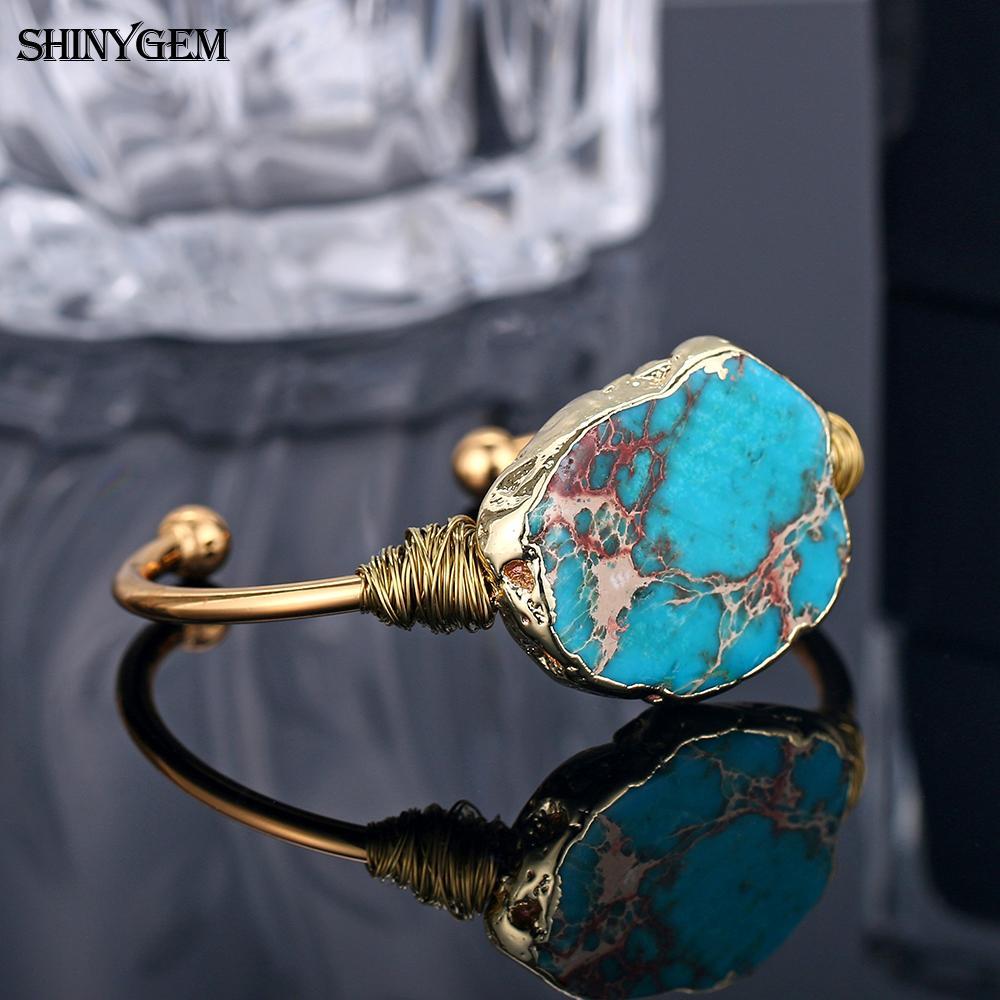 ShinyGem Natural Stone Bangle  3
