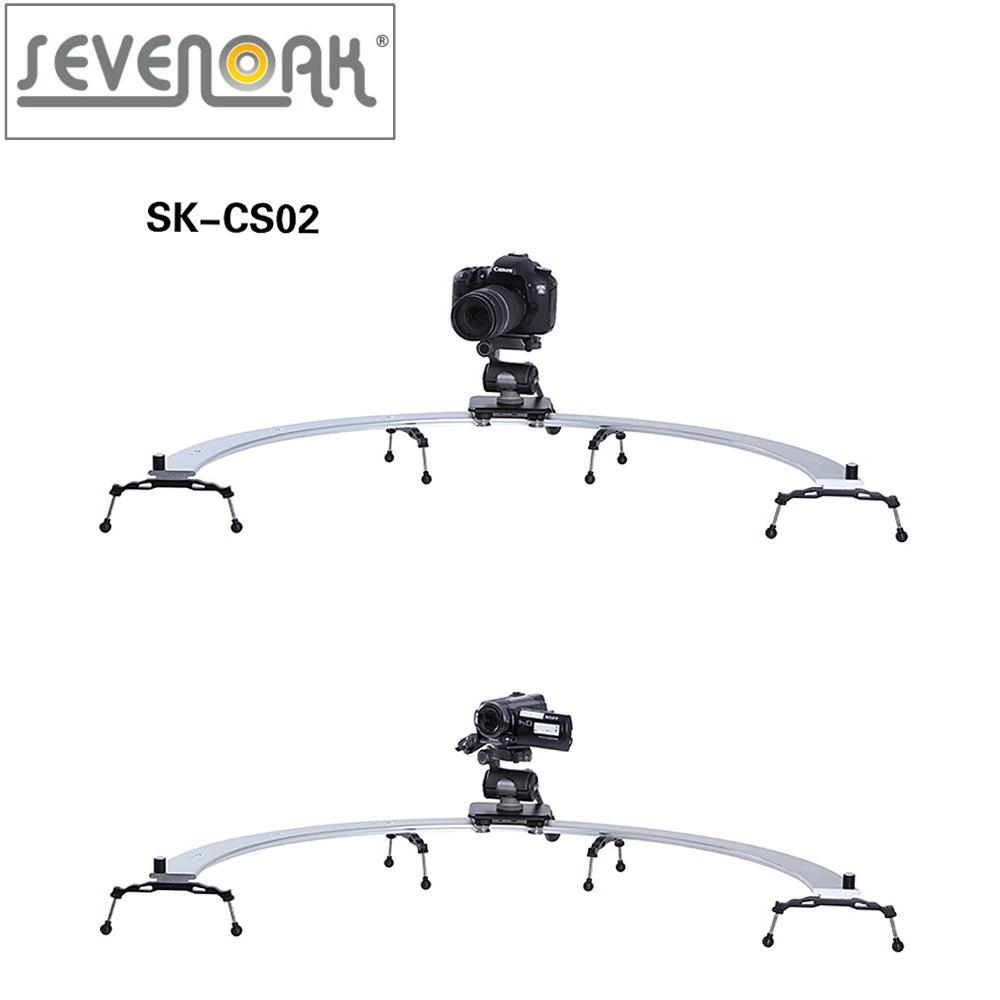 Sevenoak SK-CS02 Pro DSLR Camera 1/2 Circle Slider Dolly Track Video Stabilizer for Canon Nikon Sony sevenoak sk vf01 2 5x lcd view finder for canon 7d 600d nikon d7000 d5100 d90 dslrs cameras camcorders