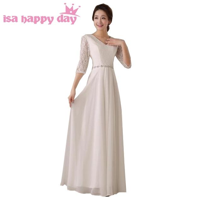 ٩ ۶long Evening Women Engagement Dress Bride Lace V Neck Dresses