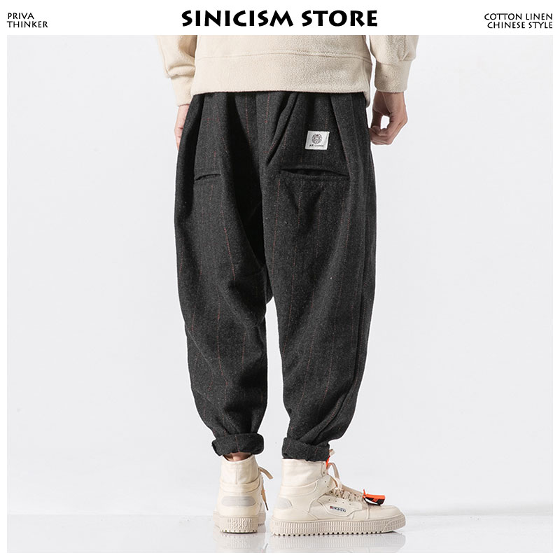 Sinicism Store Men Winter Harem Pants 2020 Mens Streetwear Pants Male Hip Hop Casual Fashions Joggers Pants Trousers Plus Size