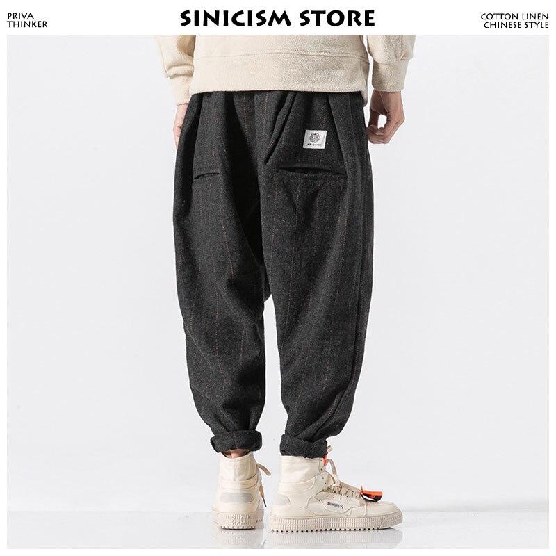 Sinicism tienda de los hombres de invierno de harén pantalones 2018 Streetwear Mens Pantalones Hombre Hip Hop moda Casual camisetas Pantalones Plus tamaño