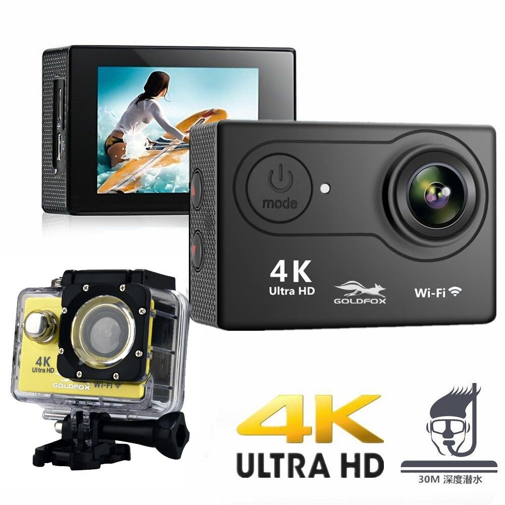 Nouveauté! caméra d'action originale Goldfox H9R/H9 Ultra HD 4 K 30 m étanche 2.0 'écran 1080 p caméra sport go extreme pro cam