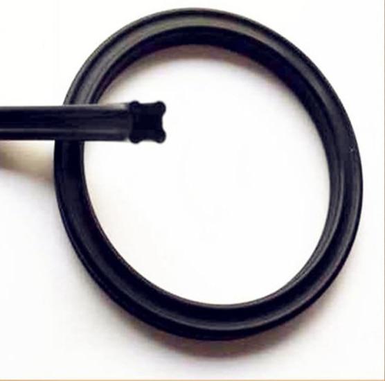 6pcs 15.54/17.12/12.37/13.95*2.62 IDxCS 2.62 Black Oil Piston Rod Lip Seal Nitrile Rubber NBR X Quad Ring Gasket стоимость
