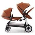 Hete moeder lichtgewicht twin hoge landschap twee kind baby trolley kan worden versteld voor en na vouwen.