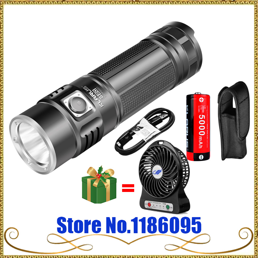 2016 KLARUS G20  CREE XHP70 N4 LED Light Tactical Flashlight USB Rechargeable Torch 3000 Lumens Dual Switch With 26650 Battery new klarus xt11gt cree xhp35 hi d4 led 2000 lm 4 mode tactical led flashlight free usb port and 18650 battey for self defence