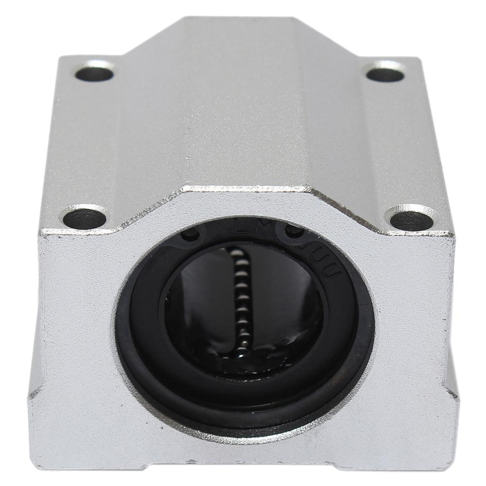 SCS20UU 20mm Linear Motion Ball Bearing Slide Bushing Block Steel lmh20luu 20mm inner dia oval flange mounted linear motion bushing ball bearing