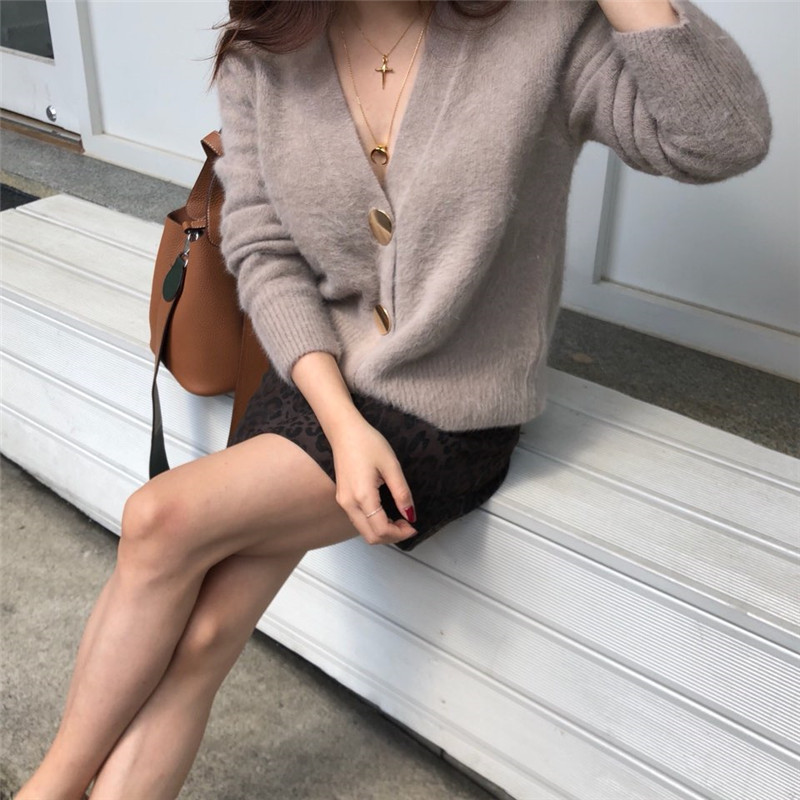 RUGOD Solid Elegant Women Cardigans Casual V-Neck Cashmere Knitted Women Sweaters Slim Autumn Winter Clothes jersey mujer 19 16