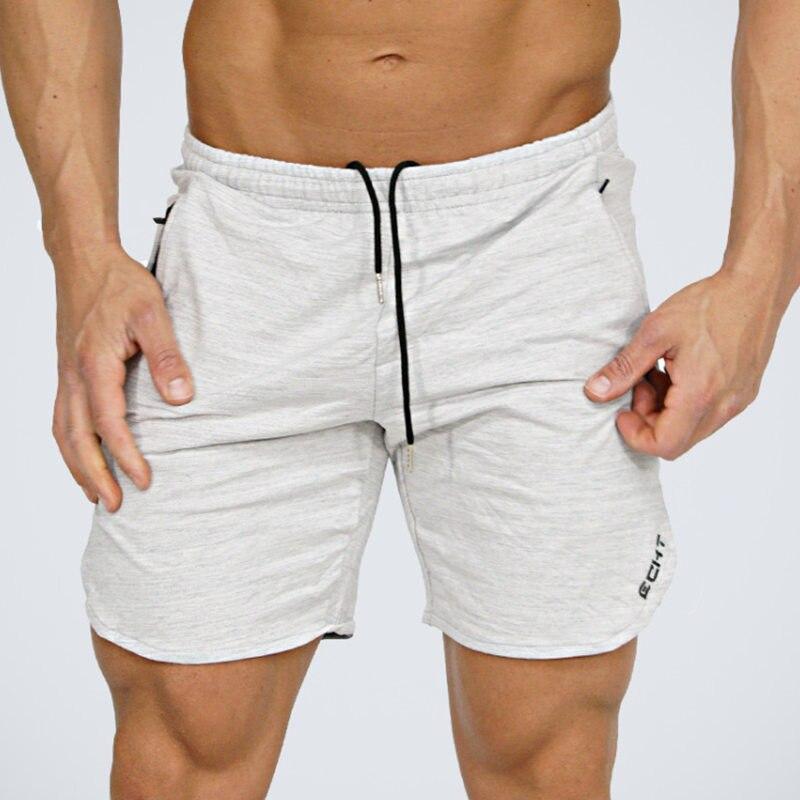 Men Fitness Cotton Shorts 2018 Fashion Casual Gyms Bodybuilding Workout Joggers Zipper Pocket Male Short Pants Brand Sweatpants
