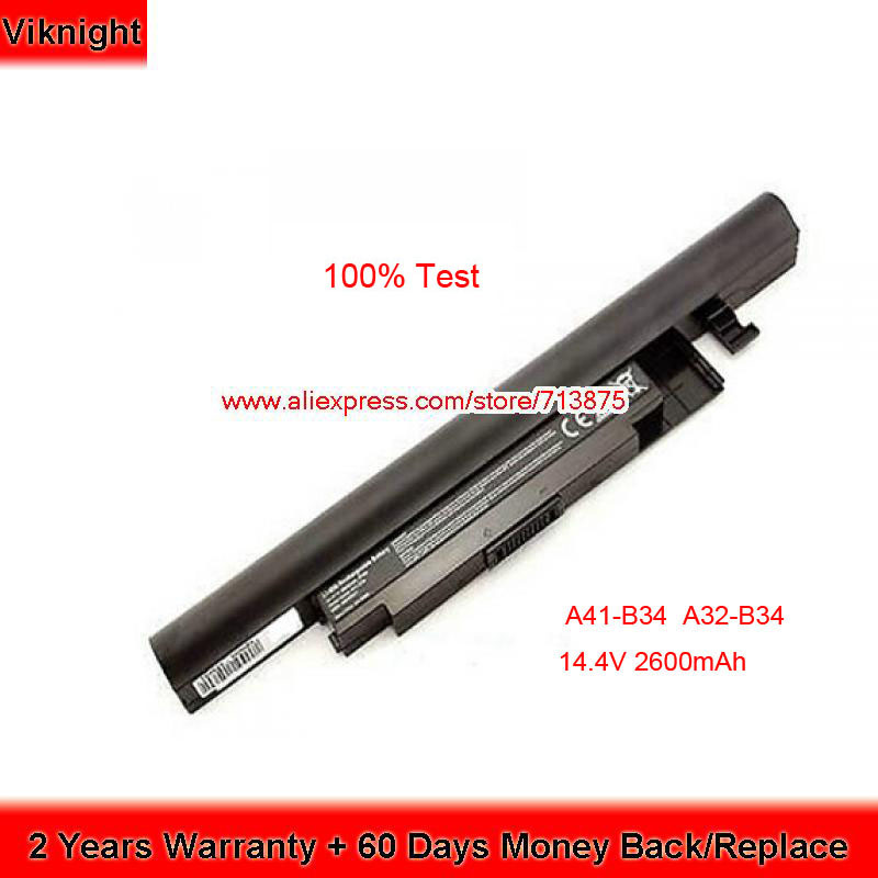 14.4 V 2600 mAh A41-B34 A32-B34 batterie d'ordinateur portable pour MEDION DNS 0151435 DNS 0801149 N1408 Akoya E6237 S4211 E6241 S4209 Haier S500