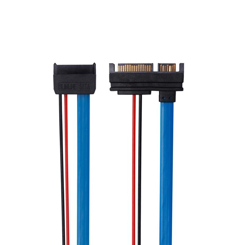 ULT-үздік SATA 5V кабелі Serial ATA 22Pin 7 + 15 Slimline - Компьютерлік кабельдер мен коннекторлар - фото 3