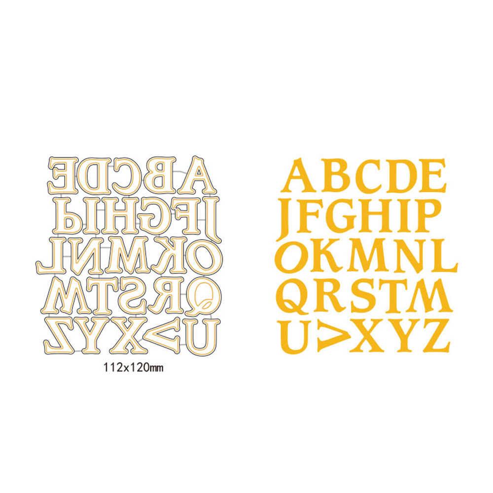 Swovo A-Z прописной шрифт для резки металла штампы строчная буква Скрапбукинг DIY трафарет ремесло бумажная карта шаблон для декораций