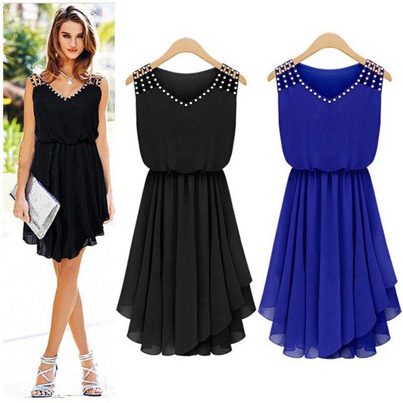 0938f7440c90c formal office wear for Women korean fashion dresses chiffon Crystal dress  black Vestidos De Festa womens clothes free shipping