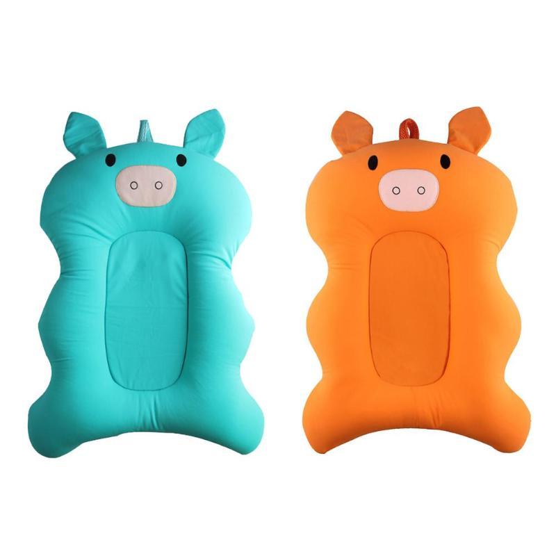 Cartoon Pigs Newborns Baby Bathing Mat Baby Bathtub Pad Infant Non-Slip Shower Seat Support Cushion Mat for baby Bathing