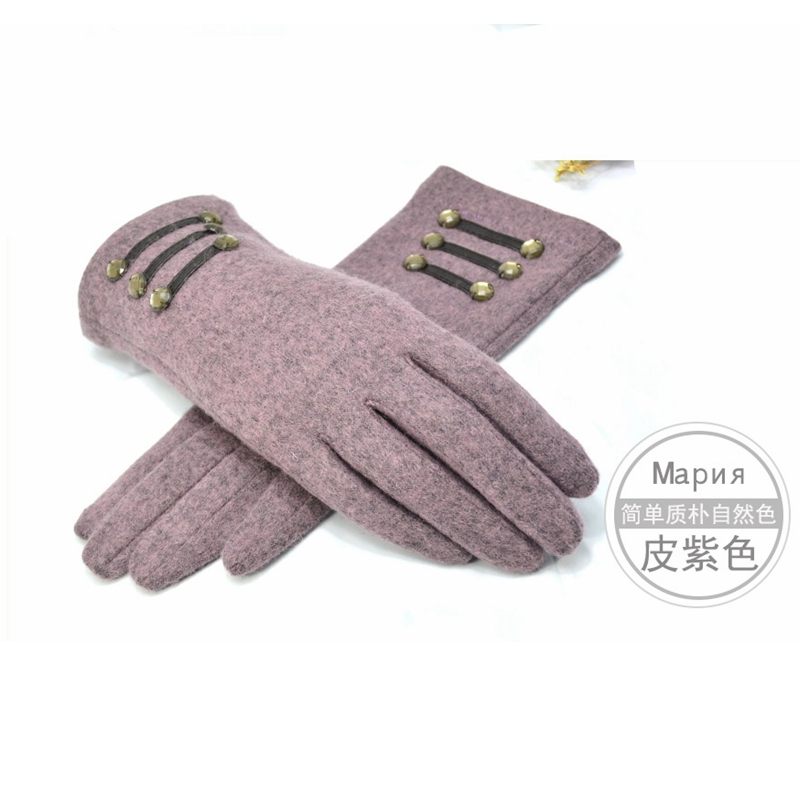 2016 Autumn winter Ladies Wool Gloves Elegant All match s