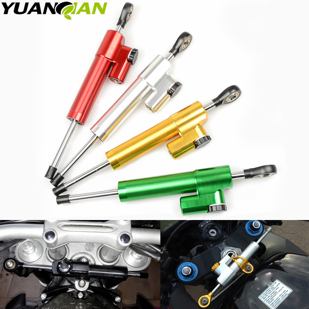 For kawasaki z800 z900 z1000 yamaha r1 r3 r6 r15 r25 mt-07 mt-09 Universal Motorcycle Accessories Stabilizer Damper Steering for kawasaki z750 z800 z 750 z 800 universal motorcycle accessories stabilizer damper steering mounting all year