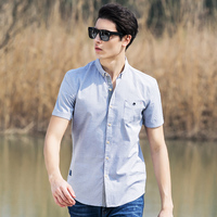 Pioneer Camp 2018 New Arrival 100% Cotton Oxford Men Shirt Slim Fit Camisa Masculina Street Soft Chemise Homme 3Xl Shirt 666210 3