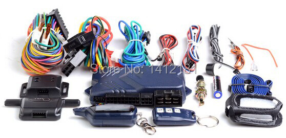 Russian Version Two Way Car Alarm System with engine start LCD Remote Control Key Fob, +Case For Twage Starline B9