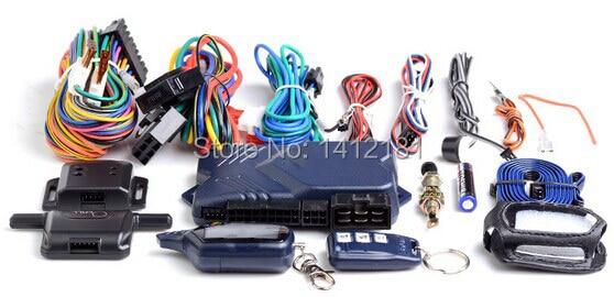 imágenes para Versión rusa de Dos Vías Sistema de Alarma de Coche con arranque del motor LCD Controlador Remoto del Llavero Cadena, + Caso libre Para Starline Twage B9
