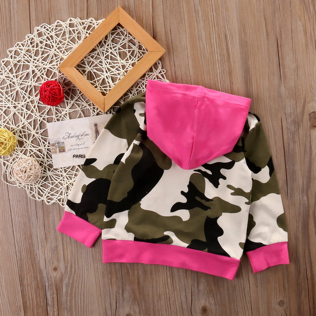 Mother Daughter Camouflage Sweatshirt Hoodie Family Matching Outfits Warm Women Kids Girls Hooded Tops Clothes Free Shipping
