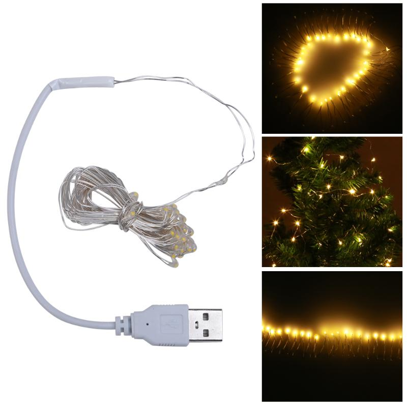 4M USB LED String Light Waterproof LED Copper Wire String Holiday Outdoor Fairy Lights For Christmas Party Wedding Decoration
