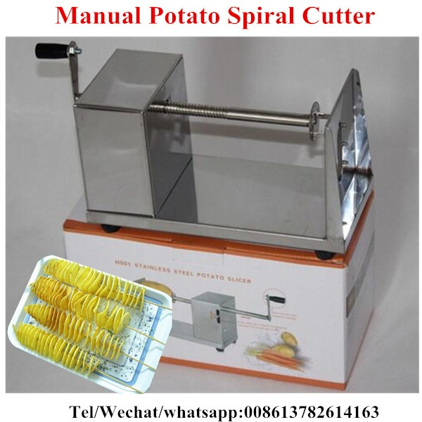New Manual Stainless Steel Spiral Potato Slicer Potato Tower Kitchen Tool Accessorios