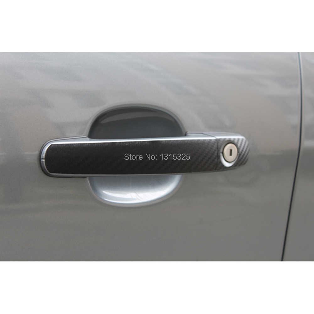 Aliauto 4 x углеродного волокна виниловая наклейка на машину Дверная ручка Защитная Наклейка для Ford Focus 2 3