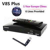 1 Year Europe Cccam Server 6 Clines DVB S2 V8S Plus Satellite Receiver MPEG4 1080P Full